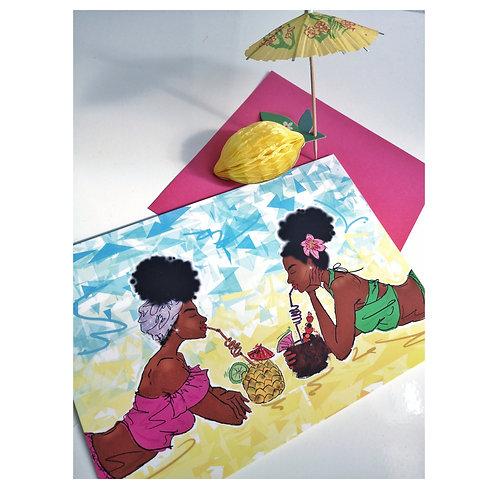 'Paradise Queens' celebration card