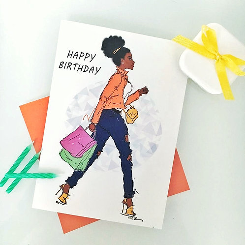 'Farah' Happy Birthday card