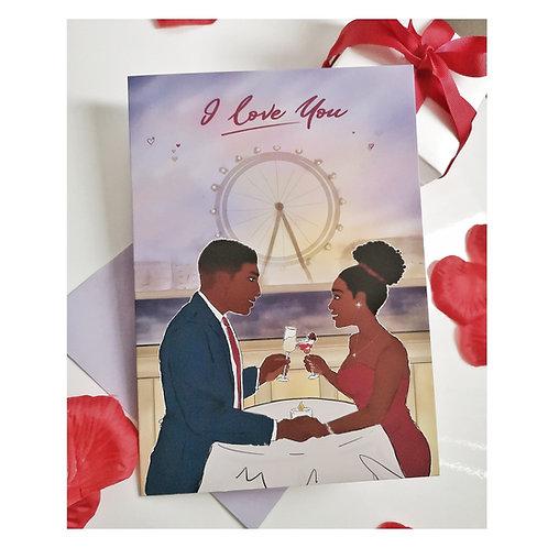 I Love You Romance Card