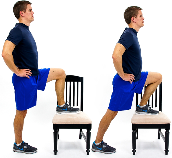 One foot on chair Hip Flexor Stretch