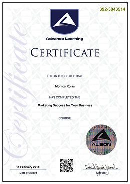 Marketing Success for Your Business_Cert
