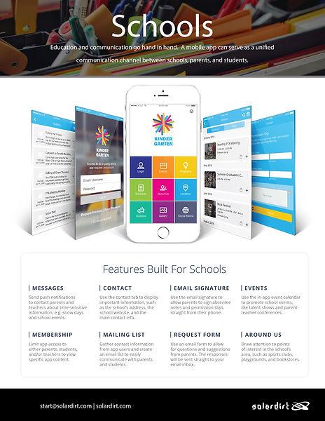 Solardirt CRM Schools Features