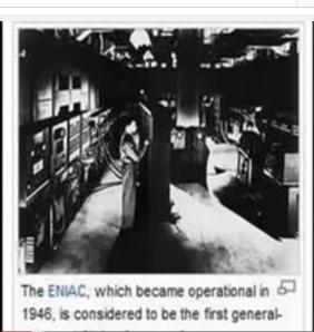 El computer history