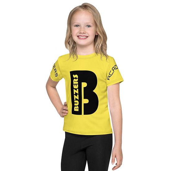 Buzzers 'B' Print & Logo Kids T-Shirt - Yellow (AGES 2-7)