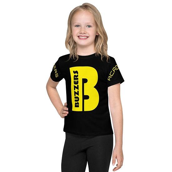 Buzzers 'B' Print & Logo Kids T-Shirt - Black (AGES 2-7)