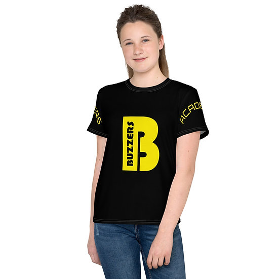 Buzzers 'B' Print & Logo Youth T-Shirt - Black (AGES 7-14)