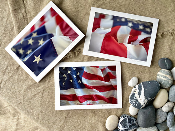 USA Flag Stationery