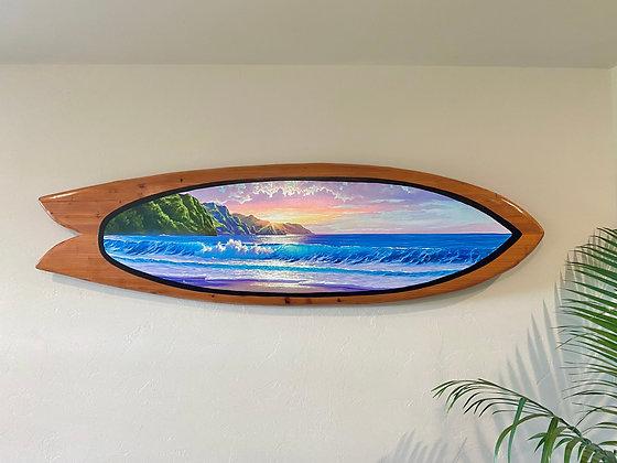 5' Handcrafted Redwood Surfboard