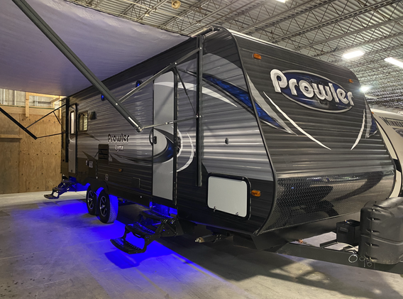 2019 Heartland Prowler. Model number is 255LX. Camper is 25 feet long. Dry weight is 6900 pounds. Has one slideout. Electric awning and manual jacks. Open floorplan. Has recliners against the back wall. Dinette and couch fold down into beds. Everything works as it should. Queen size bed up front. Bathroom has a stand up shower. Very nice little camper. Does have a rebuilt title from hail damage. Does have some dings on it. Priced at $19,500.