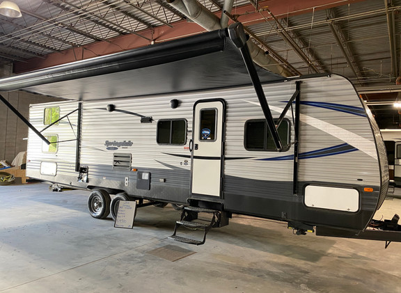 2018 Keystone Springdale SS. Model number SM 2960. Camper is 29 feet long. Has one slideout. Big electric awning and electric stabilizer jacks. Does have the Arctic Package! Has a huge storage compartment in the very back. Does have some dents on the back. Rest of the camper is very nice. Inside is clean. Has bunkbeds in the back. Living room and kitchen in the middle. Dinette and couch fold down into beds. Private bedroom up front. Camper sleeps 6-10 comfortably. Does have a rebuilt title from the damage to the back. Priced at $19,500.