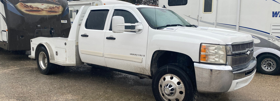 2008 Chevy 3500 6.6 Duramax diesel. Automatic transmission. Cloth interior. Very nice western hauler flat bed. $25,000