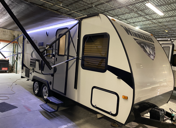 2016 Winnebago Micro Minnie. Model number is 2106DS. Camper is 21 feet long. Dry weight is 3800 pounds. Has one slideout. Electric awning with led strip underneath. Manual stabilizer jacks. Inside is very nice. Has a Murphy bed up front. Couch folds down into a bed in the slideout. Everything works as it should. Bathroom in the back with big shower. Nice little camper!! Can be towed with a  SUV.  Sleeps 3-4 comfortably. Does have a rebuilt title. Priced at $14,800.