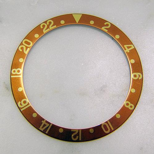 Genuine Rolex GMT-MASTER II Root Beer Eye Tiger Watch Bezel Insert 16713 16718