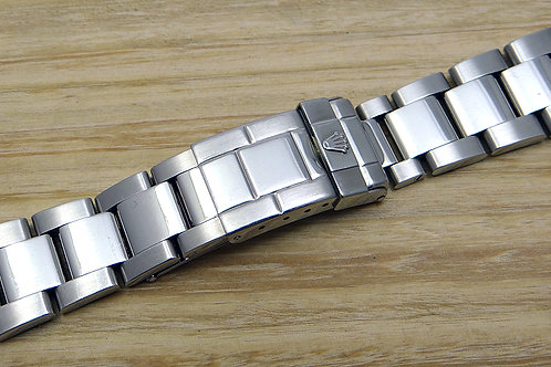 Genuine Rolex Stainless Steel Oyster Bracelet 78760 with Solid End Links