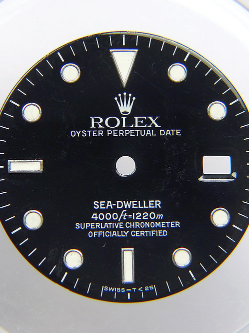 Genuine Rolex Sea-Dweller 16660 Glossy Black Watch Dial with Tritium Markers