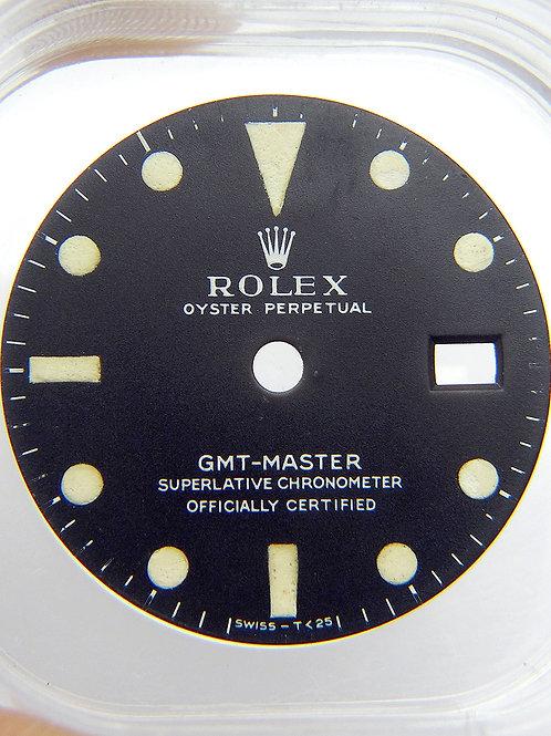 "Rolex GMT-MASTER 1675 Mark 1 ""Long E"" Matte Black Watch Dial Circa Mid 1960's"