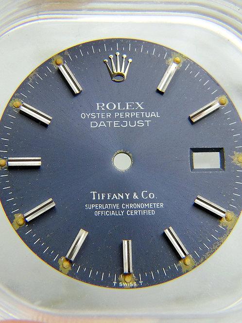 Vintage Genuine Rolex Datejust 16014 16234 Tropical Blue Tiffany & Co Watch Dial