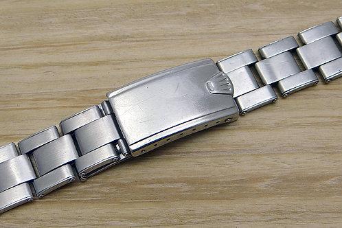Rolex 20mm Stainless Steel C&I Rivet Bracelet & Rolex Big Crown Clasp Circa 1977