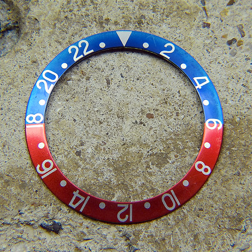 "Rolex GMT-MASTER ""Pepsi"" Fat Font Faded Watch Bezel Insert Models 1675 or 16750"