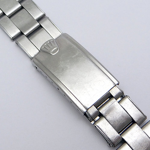 Genuine Factory Rolex 20mm C&I Rivet Bracelet & Big Crown Clasp Circa 1969