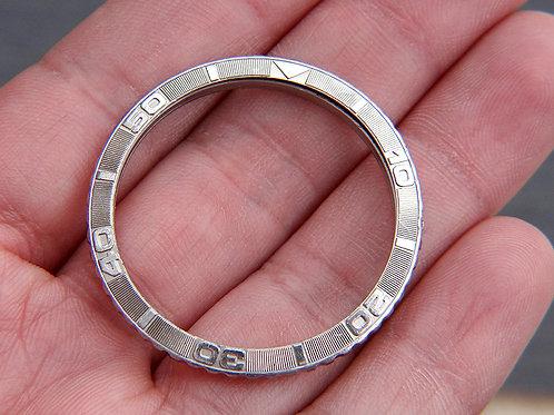 Rolex 18k White Gold Datejust Turn-O-Graph Thunderbird Bezel Insert & Ring 16264