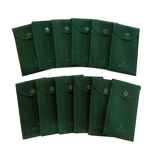 Genuine New Rolex Service Green Velvet Travel Pouch