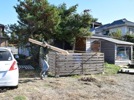 農機具小屋建てました。