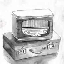 Inktober Day 4 Radio