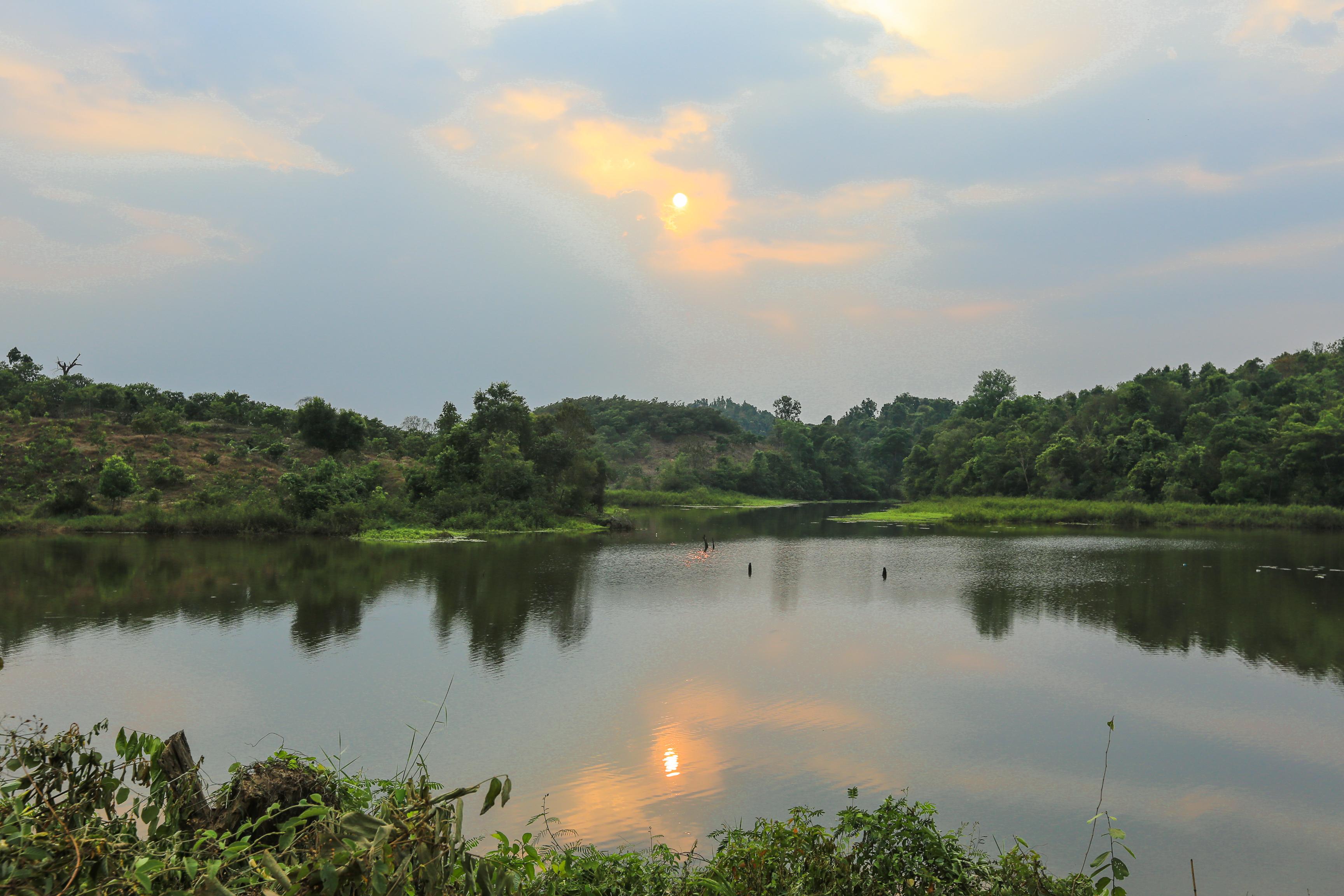 Lake in Cat tien