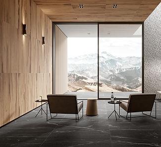 Casa con acabdos de madera