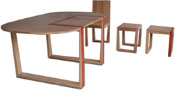 table et chaises en chêne