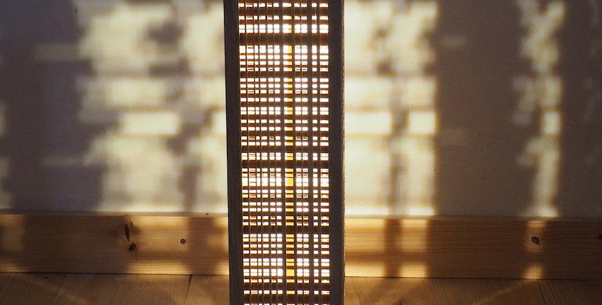 Colonne lumineuse en bois de chêne