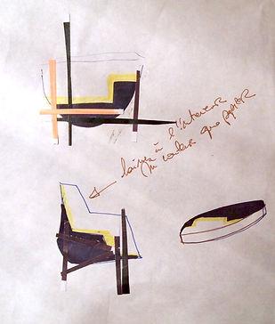 croquis pour mobilier en pate à papier
