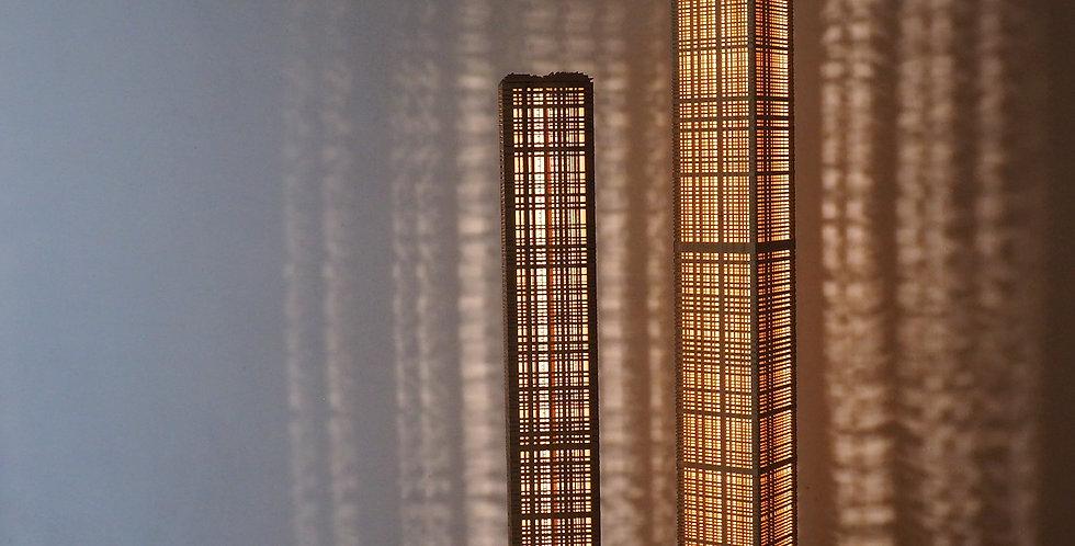 Couple de colonnes lumineuses