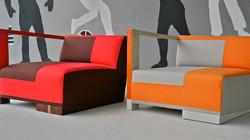 fauteuil confortable bi-color design