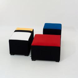Pouf Piet Mondrian