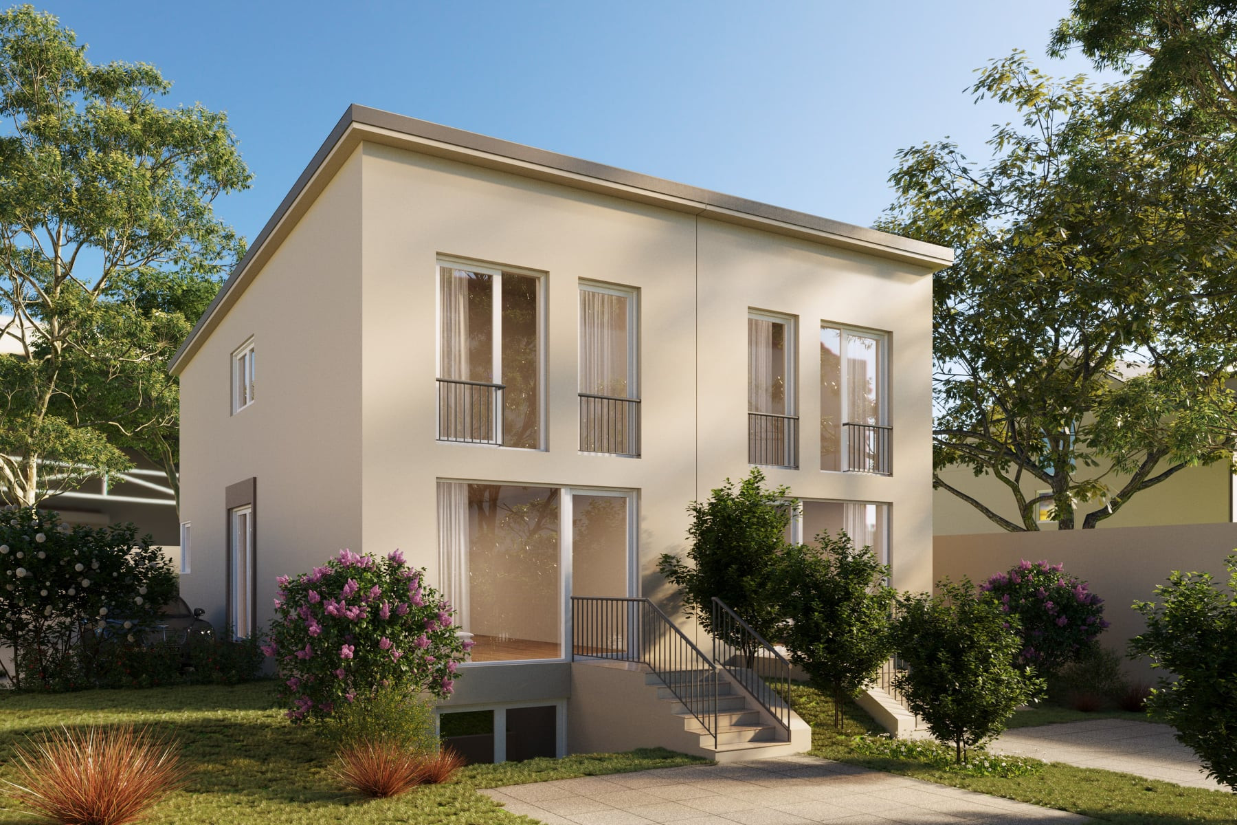 Beispiel Assenvisualisierung Doppelhaus.