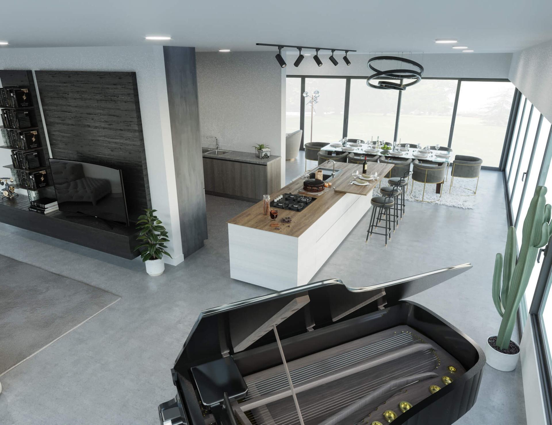 Beispielvisualisierung Wohnzimmer
