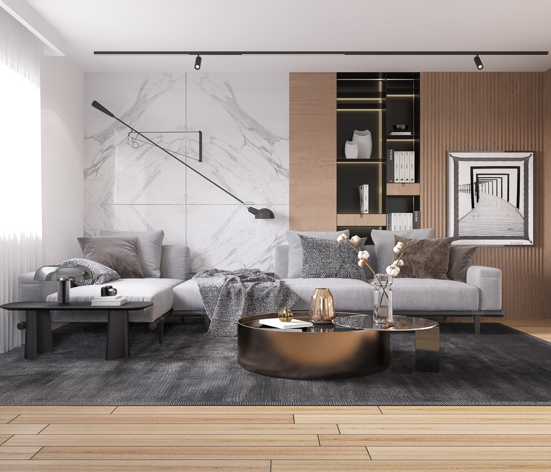 Innenvisualisierung Referenz Wohnzimmer.