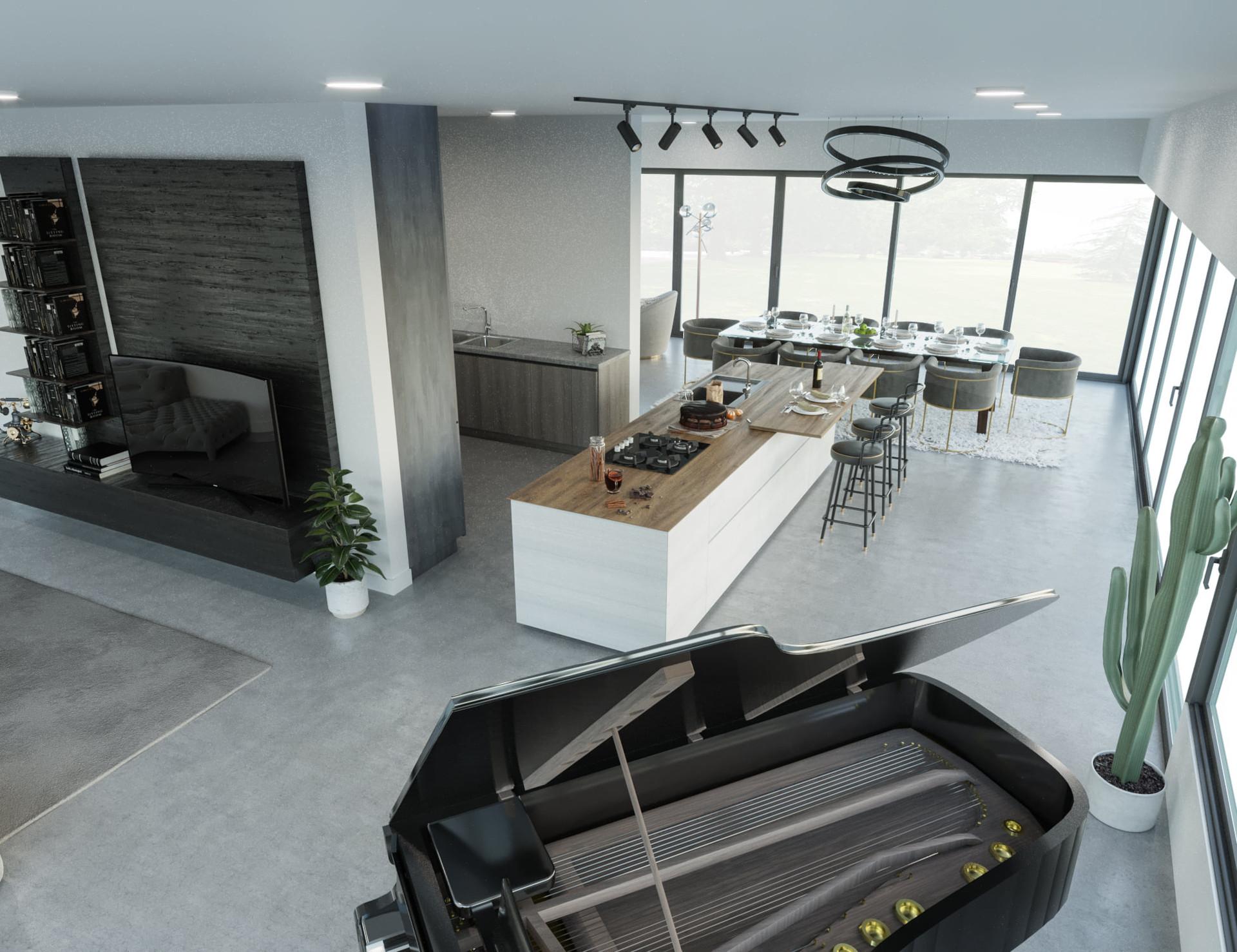 Innenvisualisierung Referenz Wohnzimmer