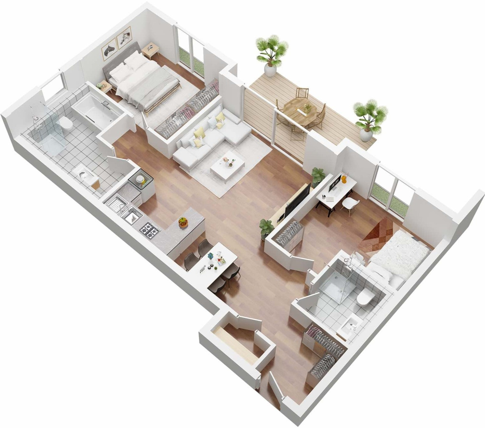 Beispiel 3D Grundriss