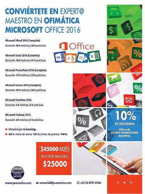 Maestría en Ofimática Microsoft Office 2016 / 2019.