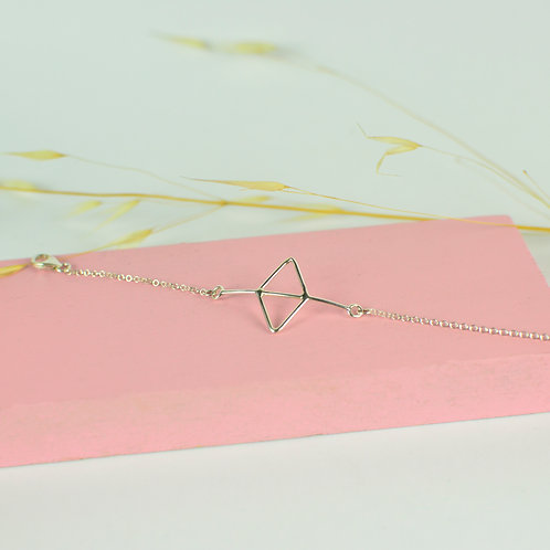 Pulsera Doble Triángulo en plata