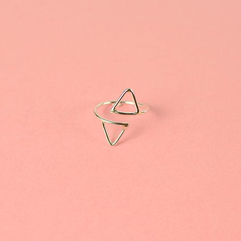 Anillo Doble Geometría Triángulo