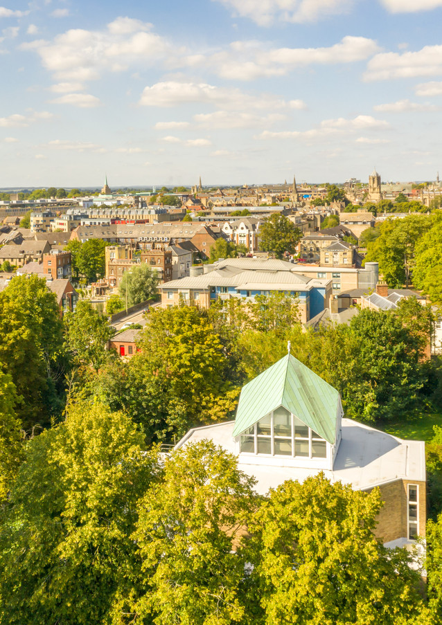 View towards Oxford City Centre