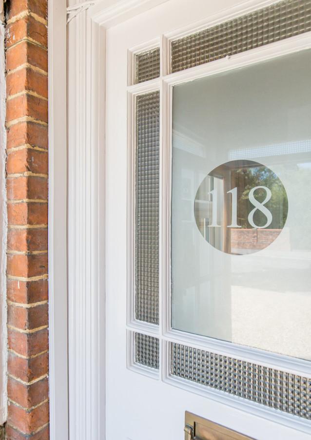 Front door of 118