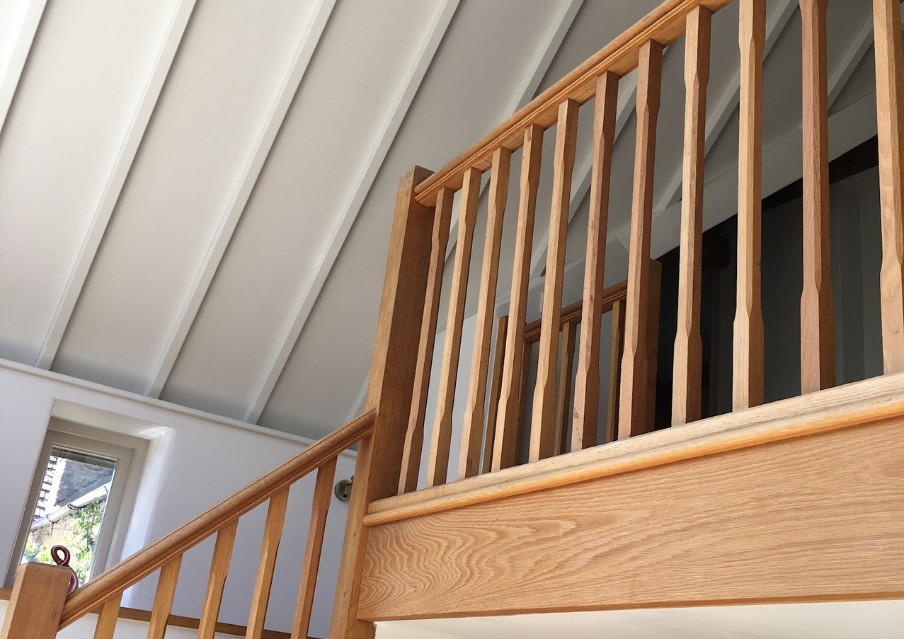 Stairs to upper floor of Malt Barn