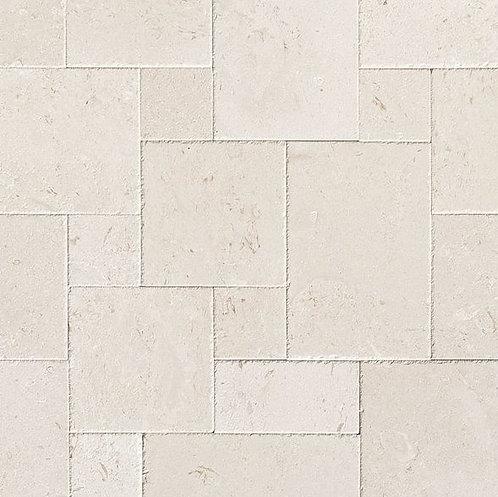 Aqua Shell | Limestone Tile Versailles Pattern