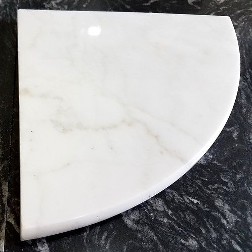 "8"" Marble Shower Corner Shelf (Carrara White)"