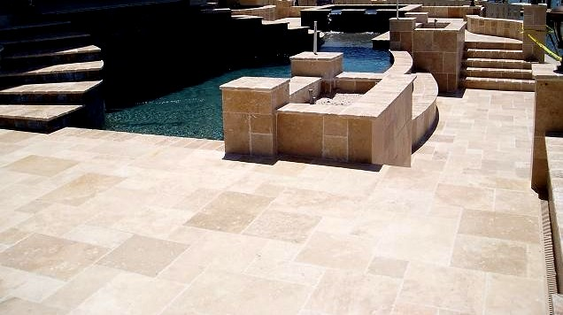 ivory french pattern travertine